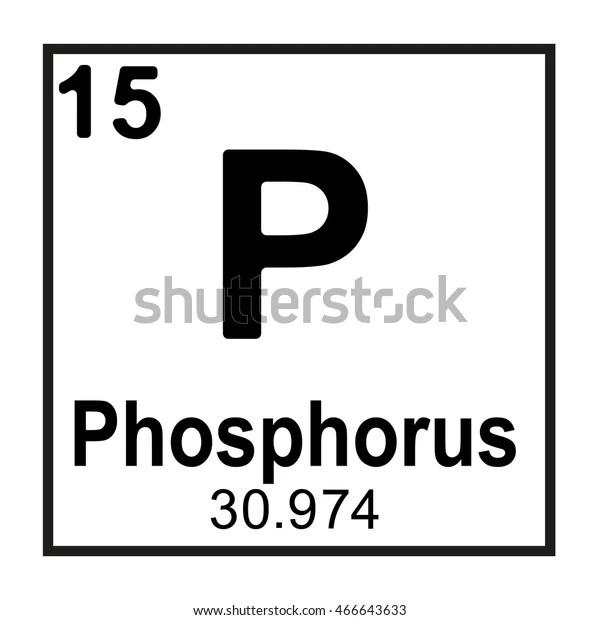 Periodic Table Element Phosphorus Stock Vector (Royalty