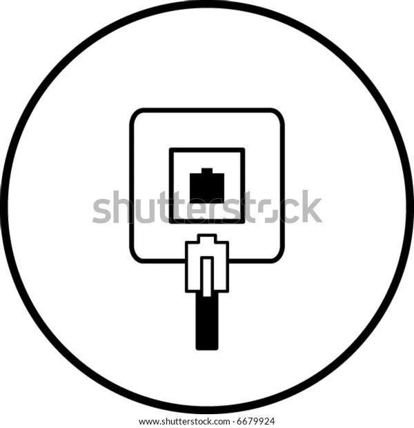 Phone Jack Symbol Stock Vector (Royalty Free) 6679924