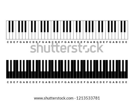 Piano Chords Piano Key Notes Chart Stock Vector (Royalty