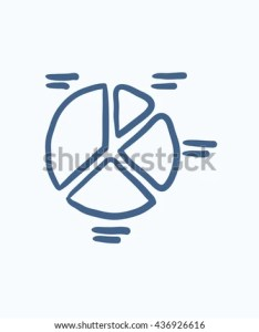 Pie chart vector sketch icon isolated on background hand drawn also stock royalty free rh shutterstock