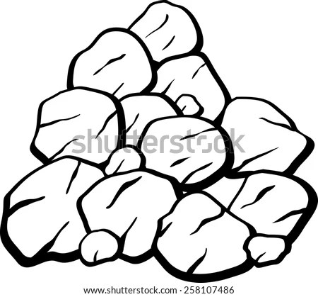 Pile Rocks Coal Stock Vector (Royalty Free) 258107486