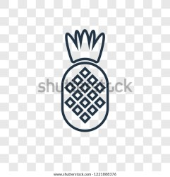 Pineapple Concept Vector Linear Icon Isolated Stock Vector Royalty Free 1221888376