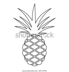 Clipart Pineapple Outline