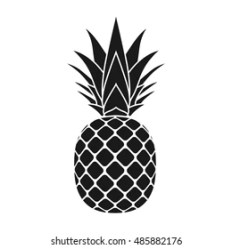 Pineapple Silhouette Images Stock Photos & Vectors Shutterstock