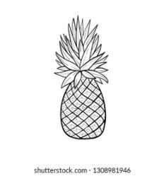 Pineapple Stencil Stock Illustrations Images & Vectors Shutterstock
