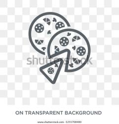 Pizza Icon Pizza Design Concept Restaurant Stock Vector Royalty Free 1255708480