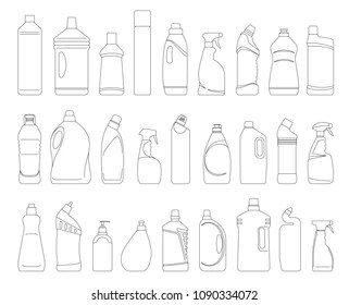 Cleaning Products Drawing Images, Stock Photos & Vectors