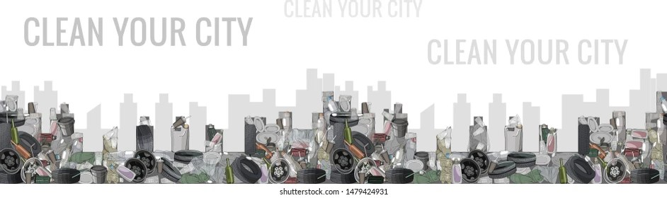 trash day images stock