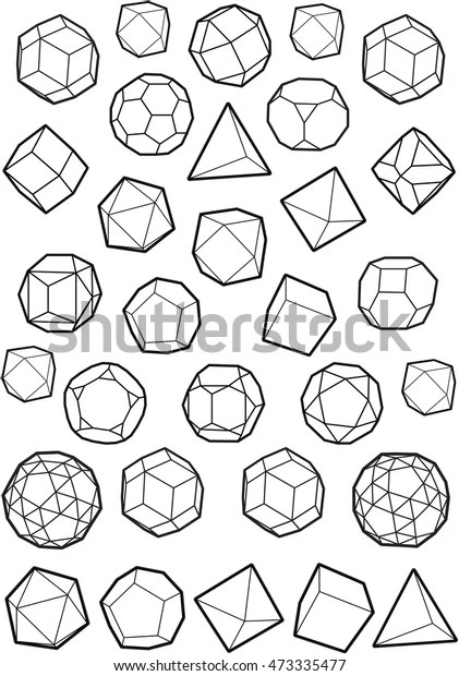Platonic Solids Pack Stock Vector (Royalty Free) 473335477