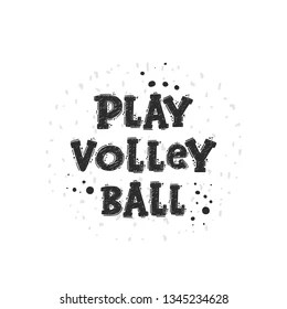 Volleyball Lettering Images, Stock Photos & Vectors