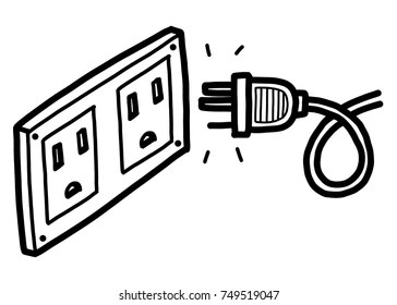 power socket sketch Images, Stock Photos & Vectors