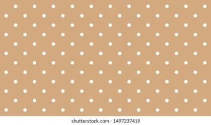 Polka Dot White On Brown Pastel Stock Vector Royalty Free 1497237419