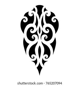 Polynesian Tribal Tattoo Vector