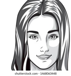 Cartoon Face Black White Images Stock Photos & Vectors Shutterstock