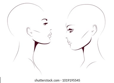 Bald Head Woman Stock Illustrations, Images & Vectors