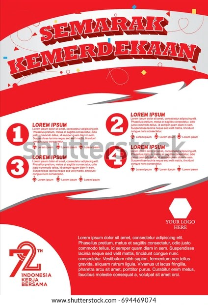 Lomba 17 Agustus Vector : lomba, agustus, vector, Poster, Lomba., Agustus, 2017., Translation:, Splendid, Independence, Years, Indonesia, Working, Together.