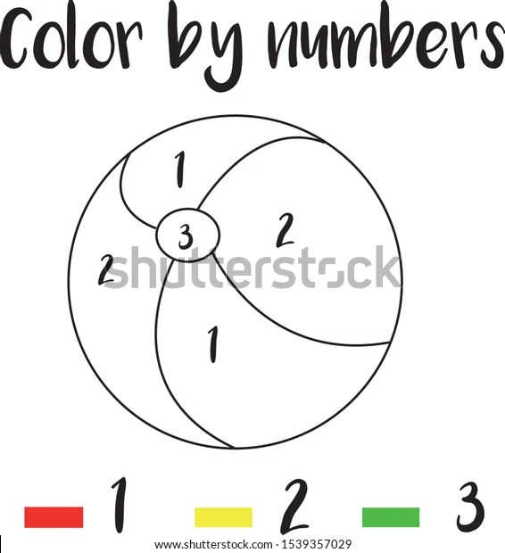 Preschool Counting Activities Coloring Page Colorful Stock
