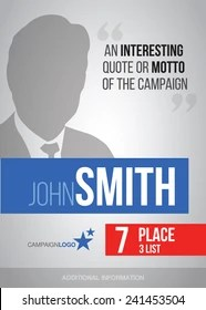 campaign posters images stock
