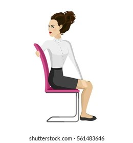 office chair exercises pictures of rails in bathrooms exercise images stock photos vectors shutterstock pretty woman business clothes is doing for back on the