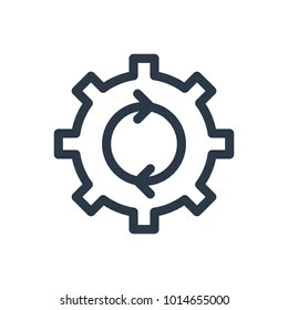 industrial process icons stock