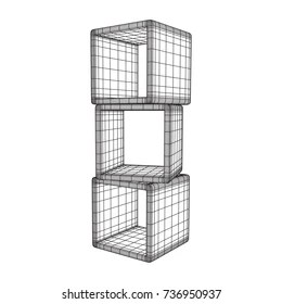 https www shutterstock com image vector product display boxes wireframe mesh vector 736950937