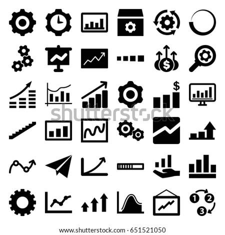 Progress Icons Set Set 36 Progress Stock Vector (Royalty