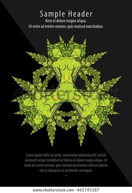 psychedelic marijuana cannabis flyer