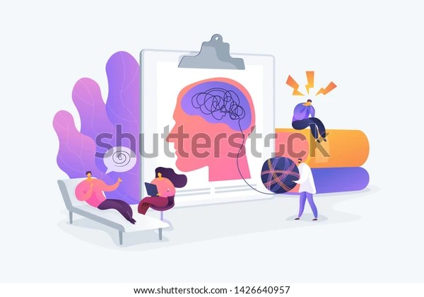 Psychotherapy Practice Psychiatrist Consulting Patient Mental Stock Vector (Royalty Free) 1426640957