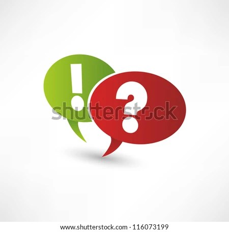 Question Mark Exclamation Point Stock Vector (Royalty Free) 116073199 - Shutterstock