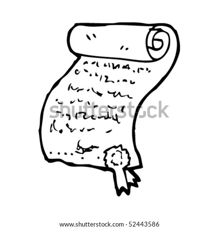 Quirky Drawing Declaration Independence Stock Vector