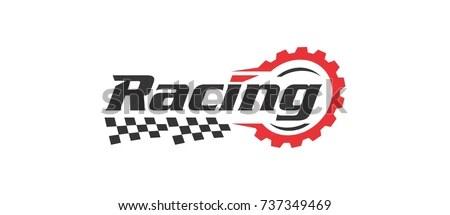 Racing Logo Stock Vector (Royalty Free) 737349469