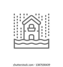 Flood Pictogram Stock Illustrations, Images & Vectors