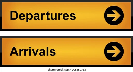 departures sign images stock