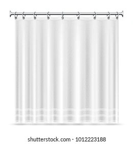 https www shutterstock com image vector realistic shower curtains vector template bathroom 1012223188