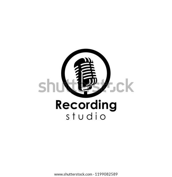 Recording Studio Logo Template Stock Vector (Royalty Free