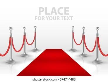 https www shutterstock com fr image vector red event carpet isolated on white 594744488