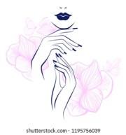 nails manicure stock vectors