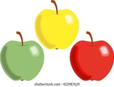 apple cartoon stock