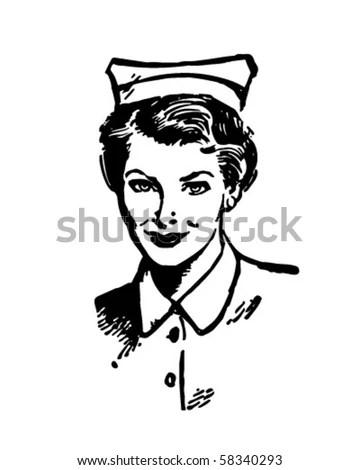 Registered Nurse Retro Clip Art Stock Vector (Royalty Free