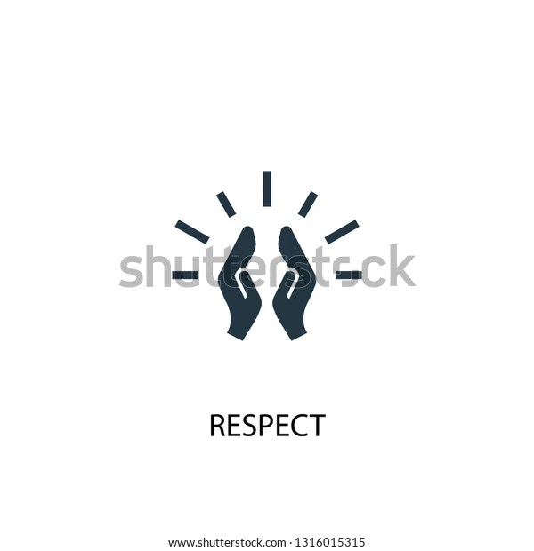 Respect Icon Simple Element Illustration Respect Stock