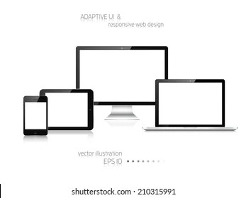 Multiple Computer Devices Images, Stock Photos & Vectors