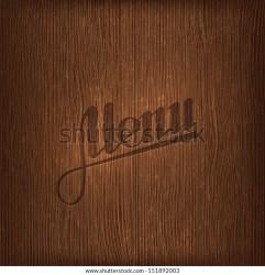 Restaurant Menu Design On Wood Background Stock Vector Royalty Free 151892003