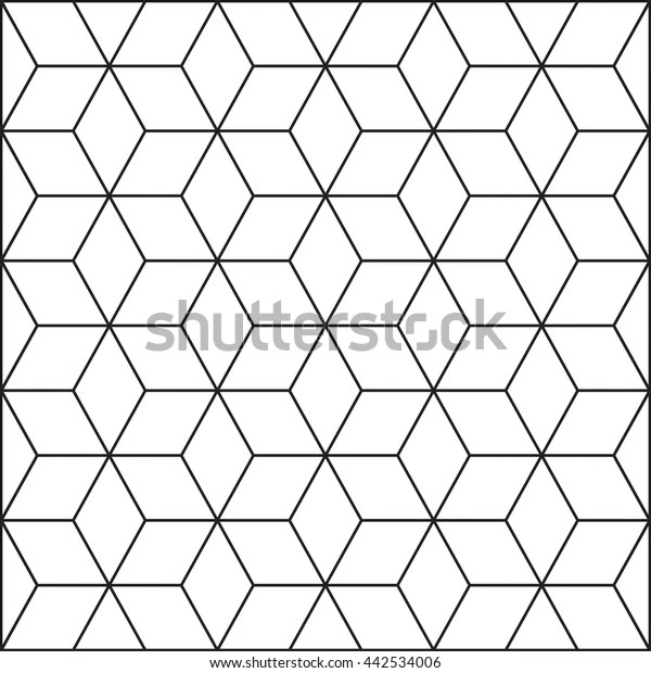 Retro Cube Pattern Stock Vector (Royalty Free) 442534006