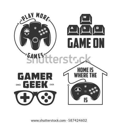 Retro Video Games Related Tshirt Design Stock Vector