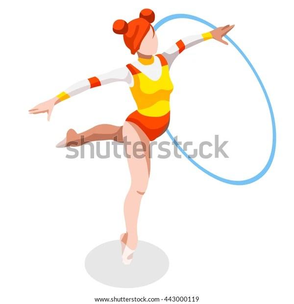 rhythmic gymnastics hoop athletes