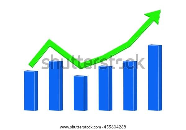rising trend statistic graph
