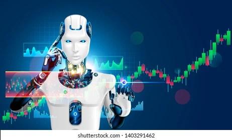 stock robots stock vectors