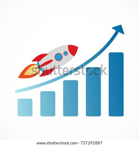 rocket ship diagram kenwood ddx370 wiring fire growth stock vector royalty free with and
