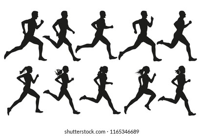 Running Silhouette Images, Stock Photos & Vectors