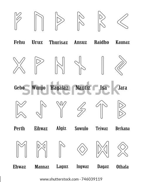 Vikingar est un projet autoédité par les soeurs derieux, ayant pour sujet central les vikings lorsque les chrétiens ont commencé à les convertir. Runes Script Rune Set Outline Letters Stock Vector Royalty Free 746039119